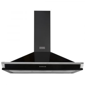 Stoves S900RICHCHIMRAILBLK 90cm Chimney Hood With Rail – BLACK