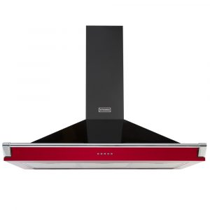 Stoves S1100RICHCHIMRAILHJA 110cm Chimney Hood With Rail – RED