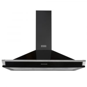 Stoves S1000RICHCHIMRAILBLK 100cm Chimney Hood With Rail – BLACK