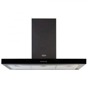 Belling COOKCENTRE110FLATBLK 110cm Flat Chimney Hood – BLACK