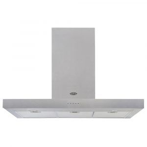 Belling COOKCENTRE90FLATSTA 90cm Flat Chimney Hood – STAINLESS STEEL