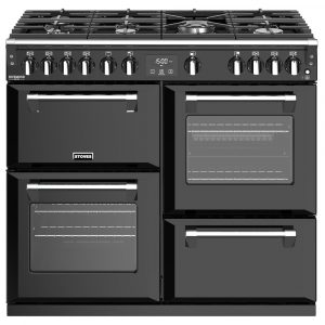 Stoves RICHMOND DX S1000GBK 4913 Stoves Richmond Deluxe 100cm Gas Range – BLACK