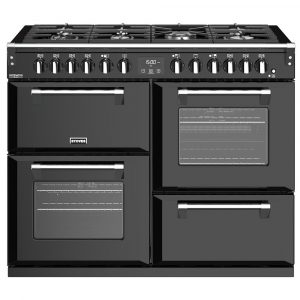 Stoves RICHMOND DX S1100DFBK 4917 Richmond Deluxe 110cm Dual Fuel Cooker – BLACK