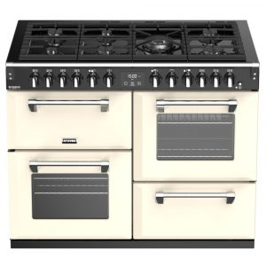 Stoves RICHMOND DX S1100DFCC 4918 Richmond Deluxe 110cm Dual Fuel Cooker – CREAM