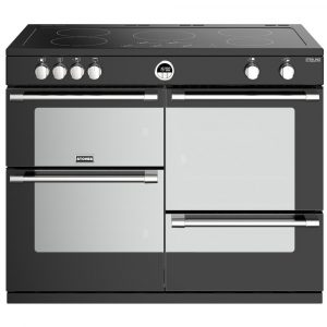 Stoves STERLING DX S1100EIBK 4959 Sterling Deluxe 110cm Induction Range Cooker – BLACK
