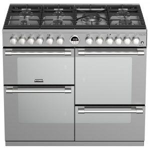 Stoves STERLING DX S1000DFSS 4942 Sterling 100cm Dual Fuel Range Cooker - STAINLESS STEEL