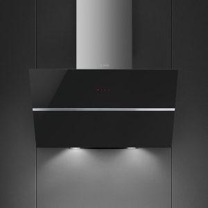 Smeg KCV80NE2 80cm Angled Chimney Hood – BLACK