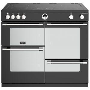 Stoves STERLING DX S1000EIBK 4949 Sterling Deluxe 100cm Induction Range Cooker – BLACK