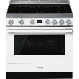 Smeg CPF9IPWH 90cm Portofino Pyrolytic Induction Range Cooker – WHITE