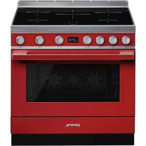 Smeg CPF9IPR 90cm Portofino Pyrolytic Induction Range Cooker - RED