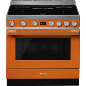 Smeg CPF9IPOR 90cm Portofino Pyrolytic Induction Range Cooker – ORANGE