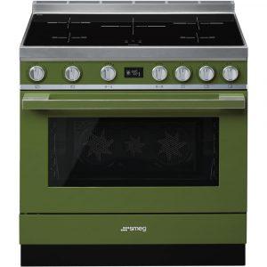 Smeg CPF9IPOG 90cm Portofino Pyrolytic Induction Range Cooker – GREEN