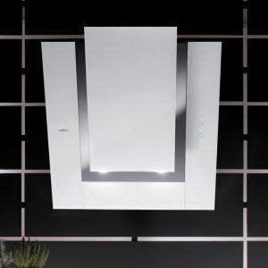 Elica VERDI WH 80cm Decorative Angled Chimney Hood – WHITE