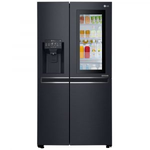 LG GSX960MTAZ Instaview Door In Door American Style Fridge Freezer With Ice & Water – BLACK