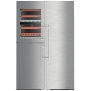 Liebherr SBSES8486 121cm Side By Side Biofresh-Plus Fridge Icemaker & Wine Storage – STAINLESS STEEL
