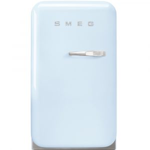 Smeg FAB5LPB Pastel Blue Retro Mini Bar Fridge Left Hand Hinge – BLUE