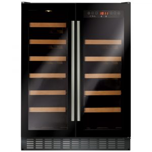 CDA FWC624BL 60cm Freestanding Under Counter Wine Cooler - BLACK