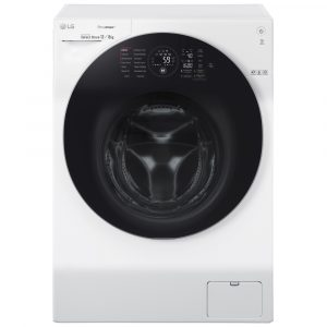 LG FH6G1BCH2N 12kg Direct Drive TrueSteam Washer Dryer 1600rpm - WHITE