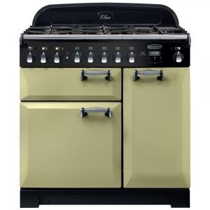 Rangemaster ELA90DFFOG/ Elan Deluxe 90cm Dual Fuel Range Cooker 118140 – GREEN