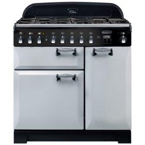 Rangemaster ELA90DFFRP/ Elan Deluxe 90cm Dual Fuel Range Cooker 118120 – ROYAL PEARL