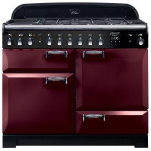 Rangemaster ELA110DFFCY/ Elan Deluxe 110cm Dual Fuel Range Cooker 118030 – CRANBERRY