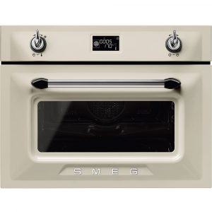 Smeg SF4920MCP1 Victoria Built In Combination Microwave – CREAM