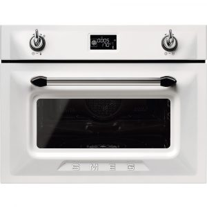 Smeg SF4920VCB1 45cm High Compact Victoria Steam Combination Oven – WHITE