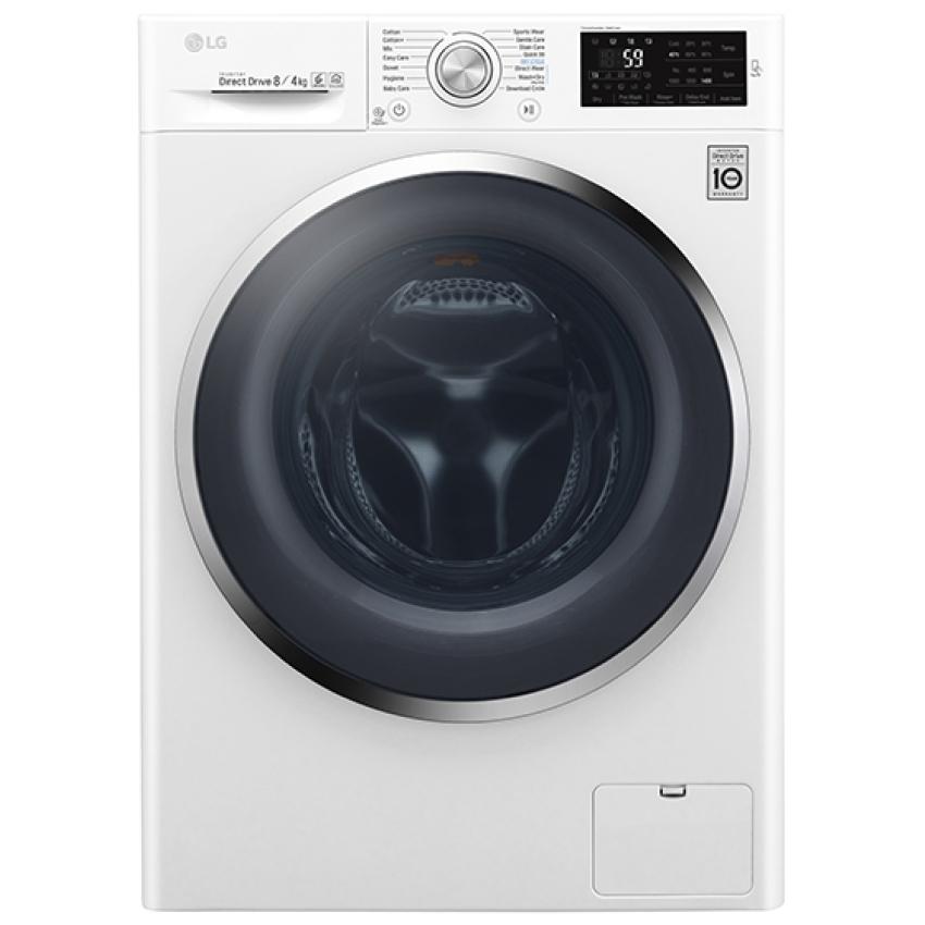 lg f4j6am2w 8kg direct drive washer dryer 1400rpm white appliance city. Black Bedroom Furniture Sets. Home Design Ideas