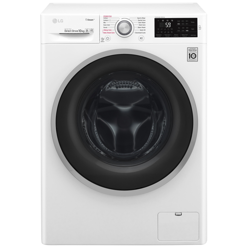 Lg F4j6jy1w 10kg Direct Drive Steam Washing Machine