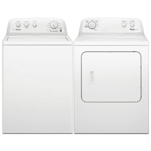 Whirlpool 3LWTW4705FW 3LWED4705FW 15kg American Washing Machine And Dryer Pack – WHITE