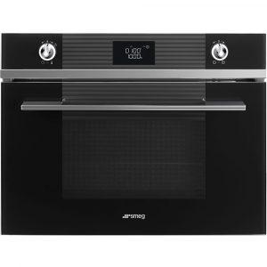 Smeg SF4102MN Linea Built In Microwave & Grill – BLACK