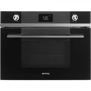 Smeg SF4102MCN Linea Compact Combi Microwave For Tall Housing – BLACK