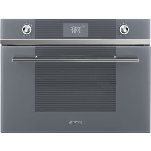 Smeg SF4102MCS Linea Built In Combination Microwave – SILVER