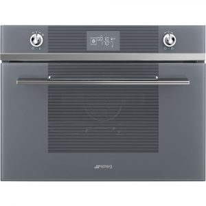 Smeg SF4102VCS 45cm High Compact Linea Steam Combination Oven – SILVER