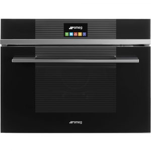 Smeg SF4104VCN 45cm High Compact Linea Steam Combination Oven – BLACK