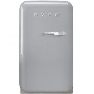 Smeg FAB5LSV Silver Retro Mini Bar Fridge Left Hand Hinge – SILVER