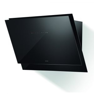 Faber BLACK TIE BRS BK A80 Black Tie 80cm Angled Chimney Hood – BLACK