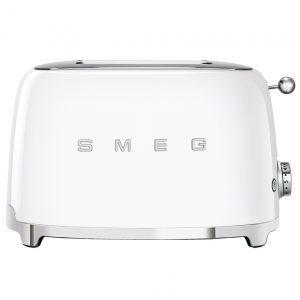 Smeg TSF01WHUK Retro 2 Slice Toaster – WHITE