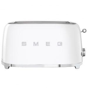 Smeg TSF02WHUK Retro 4 Slice Toaster – WHITE