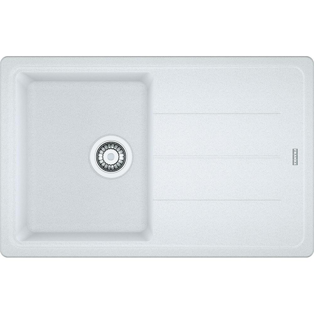Image of Franke BFG611-780 PW Basis Fragranite Single Bowl Sink - WHITE