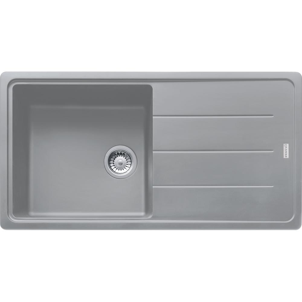 Image of Franke BFG611-970 SG Basis Fragranite Single Bowl Sink - STONE GREY