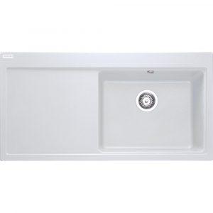 Franke MTG611 LHD PW Mythos Fragranite Sink Left Hand Drainer – WHITE