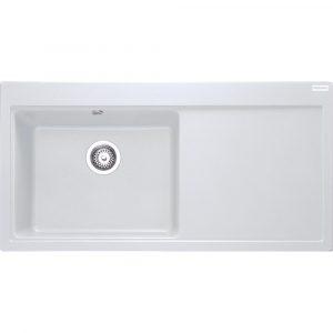 Franke MTG611 RHD PW Mythos Fragranite Sink Right Hand Drainer – WHITE