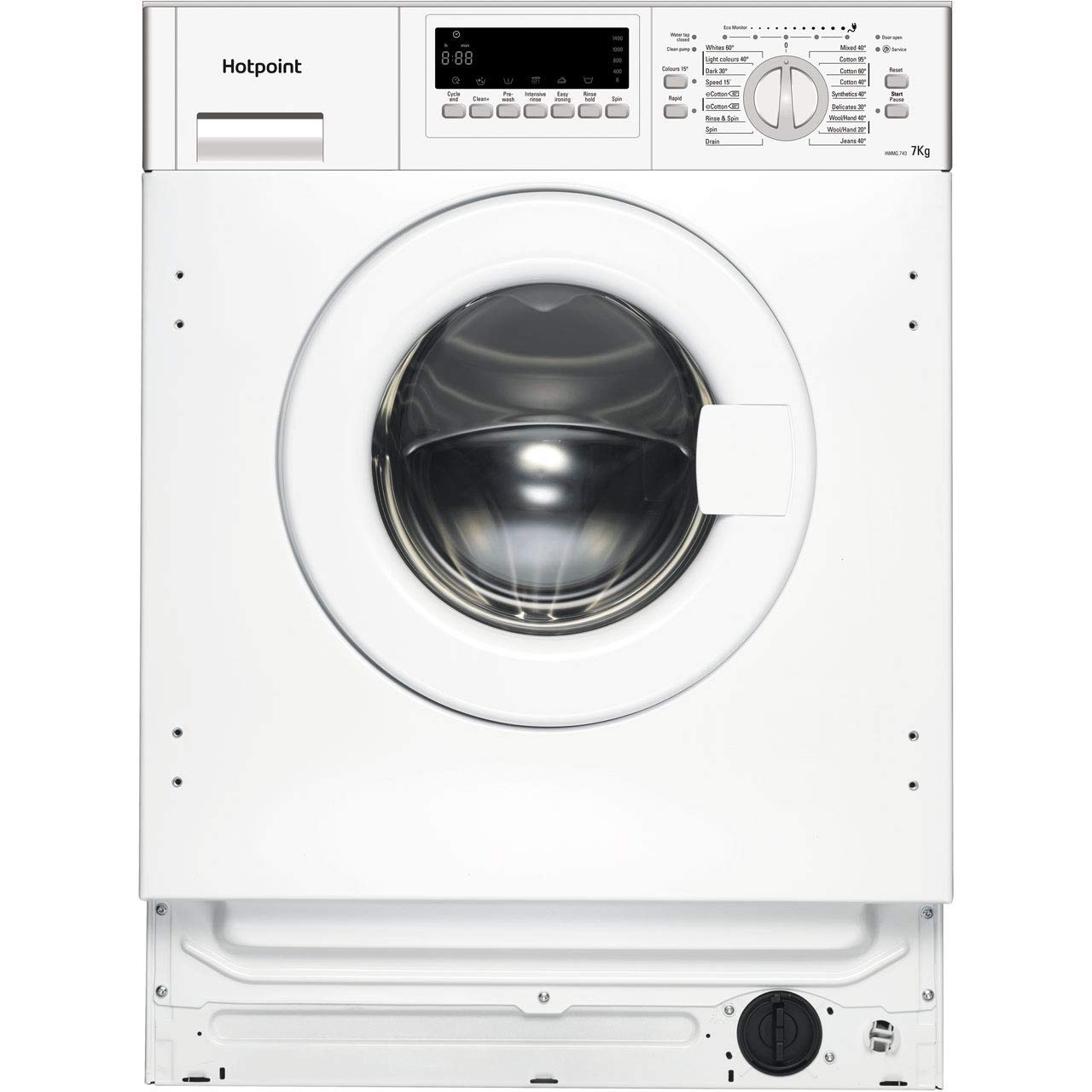 Hotpoint Hwmg743 7kg Fully Integrated Washing Machine Appliance City Hoover Wiring Diagram Home