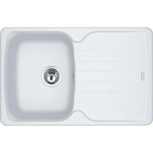 Franke AZG611-78 PW Antea Fragranite Single Bowl Sink – WHITE