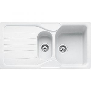 Franke COG651 PW Calypso Fragranite 1.5 Bowl Sink – WHITE