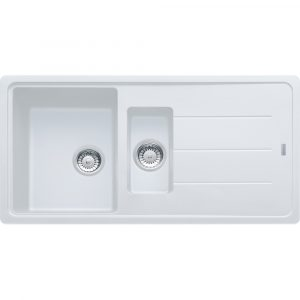 Franke BFG651 PW Basis Fragranite 1.5 Bowl Sink – WHITE