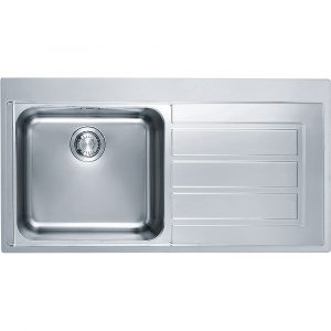 Franke EOX611 RHD Epos Single Bowl Sink Right Hand Drainer – STAINLESS STEEL
