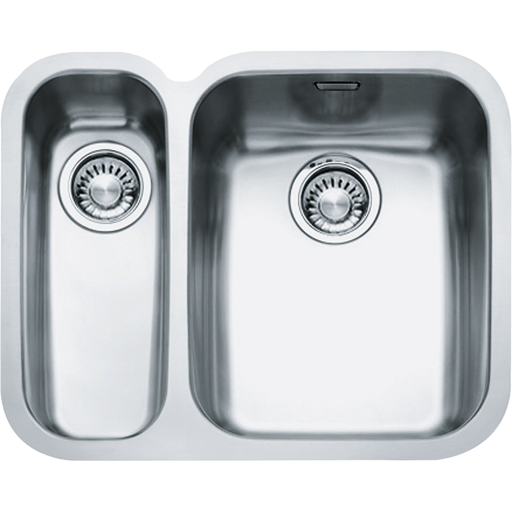 Image of Franke ARX160-D LHSB Ariane 1.5 Bowl Undermount Sink Left Hand Small Bowl - STAINLESS STEEL