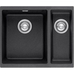 Franke SID160 CB Sirius Tectonite 1.5 Bowl Sink Right Hand Small Bowl – BLACK